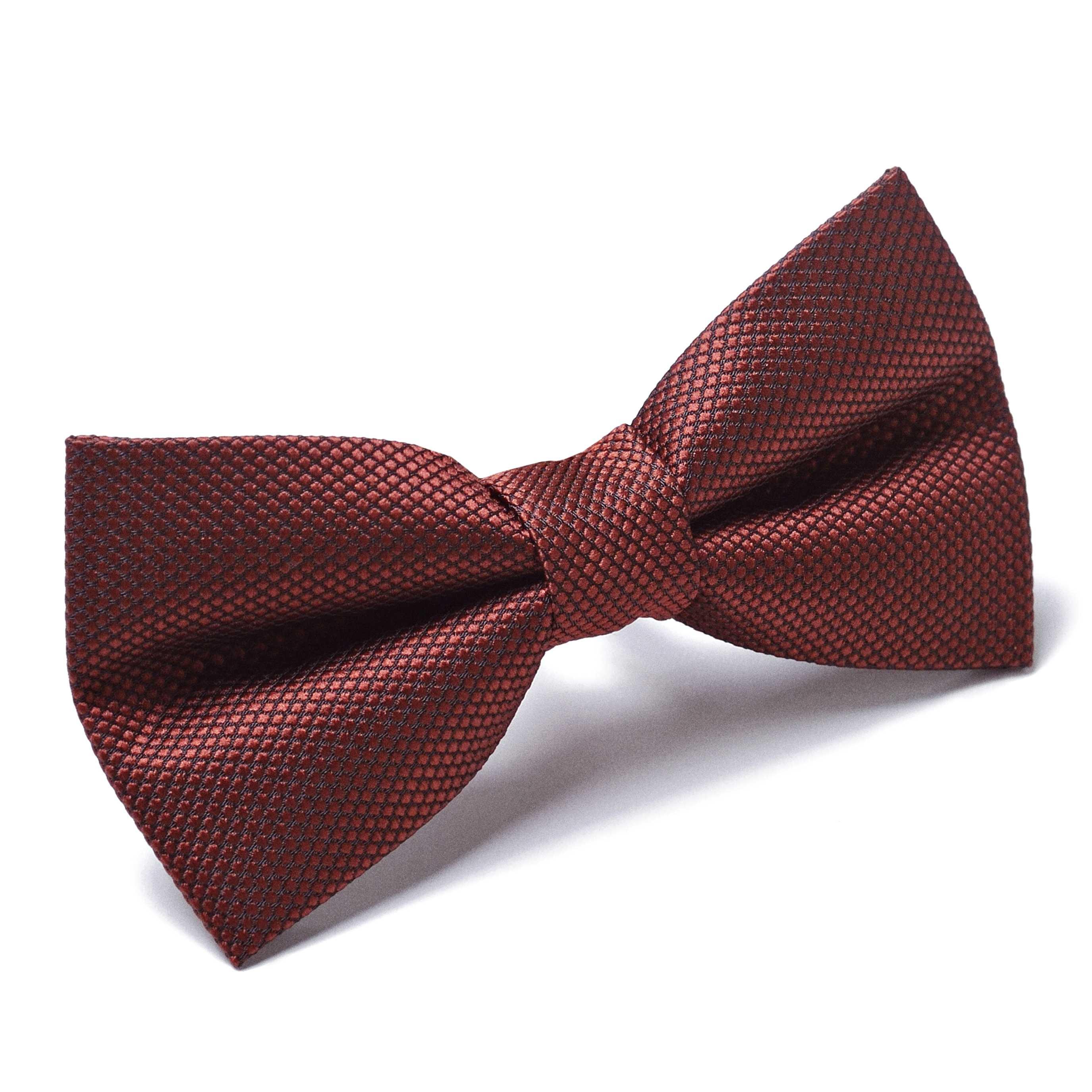 Бабочка мужская рыже-коричневая в мелкую фактуру