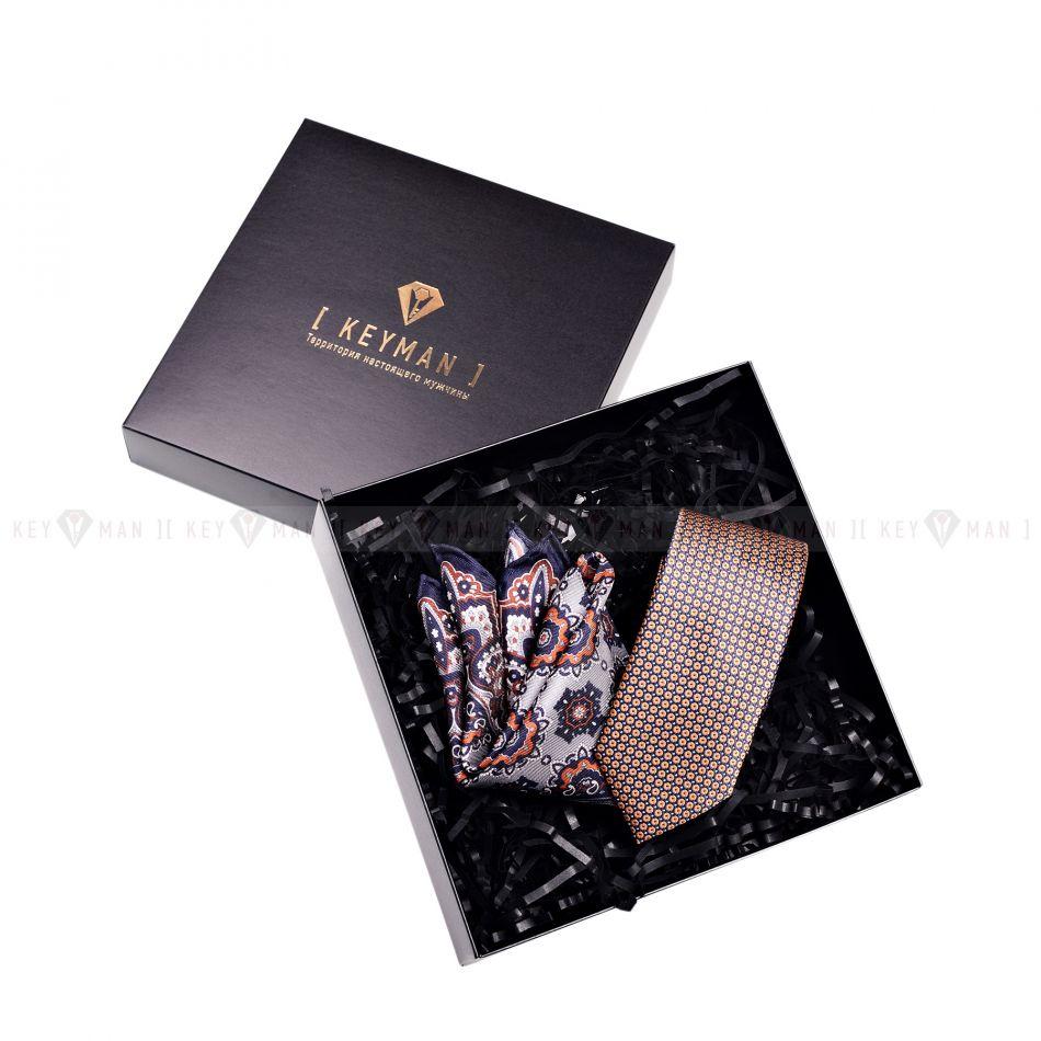 Пример подарочного набора Keyman (фирменная коробочка, галстук, платок)