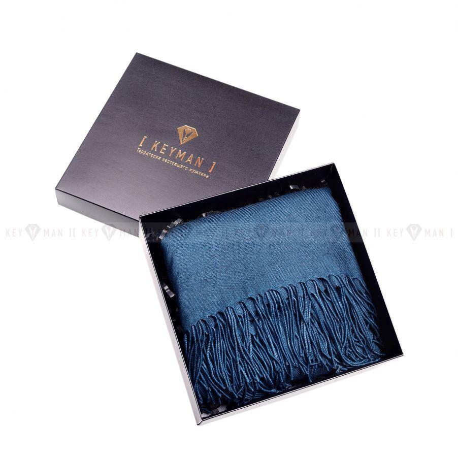 Шарф мужской бирюзовый однотонный (ткань меланж)