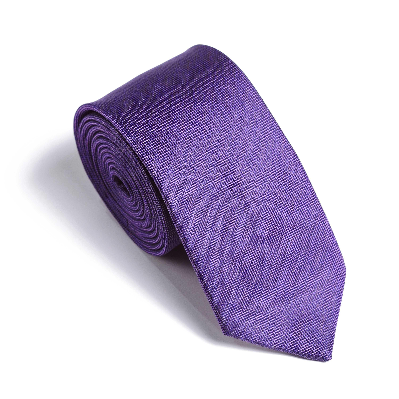 Галстук мужской фиолетовый, ткань меланж