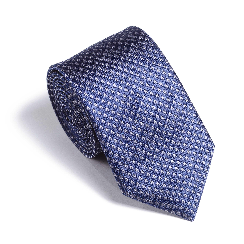Галстук мужской синий в серый узор
