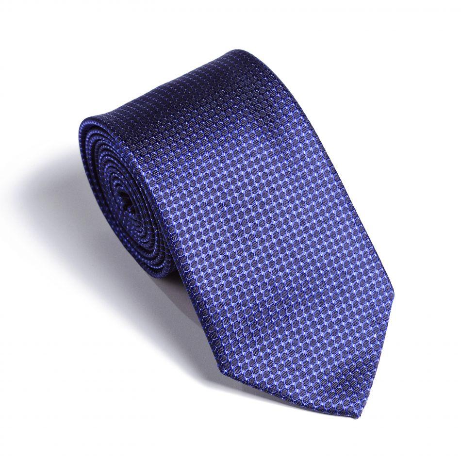 Галстук мужской сине-фиолетовый в мелкий узор