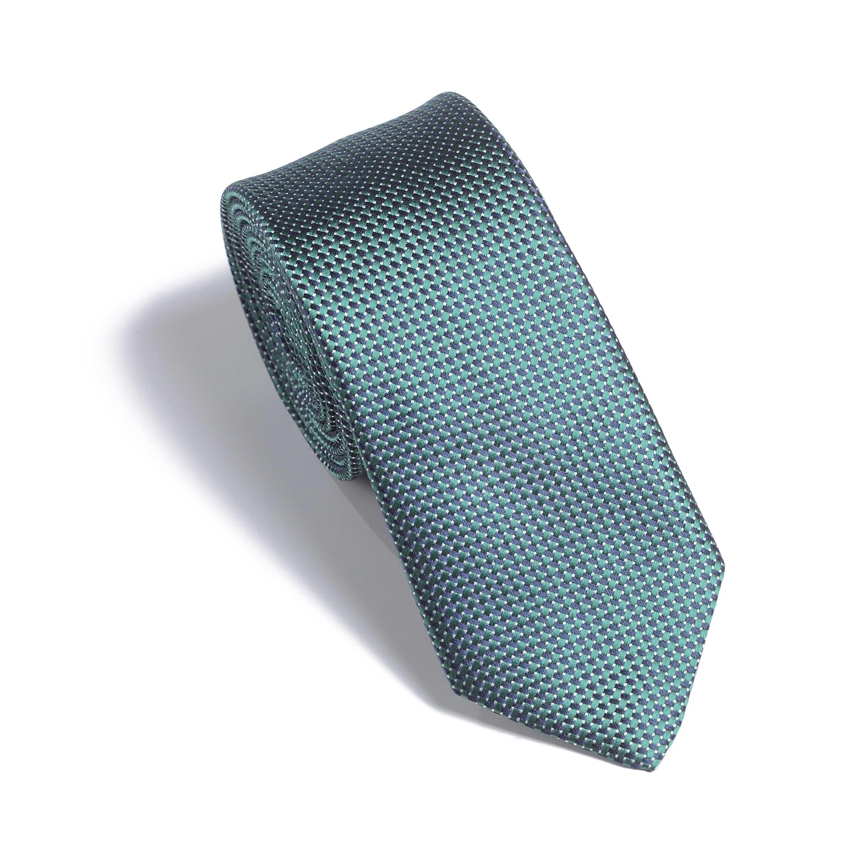 Галстук мужской зелено-синий фактурный