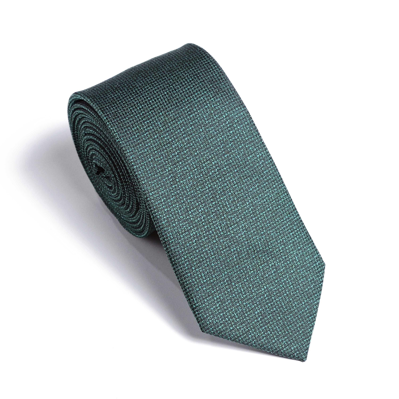 Галстук мужской зеленый в мелкую фактуру