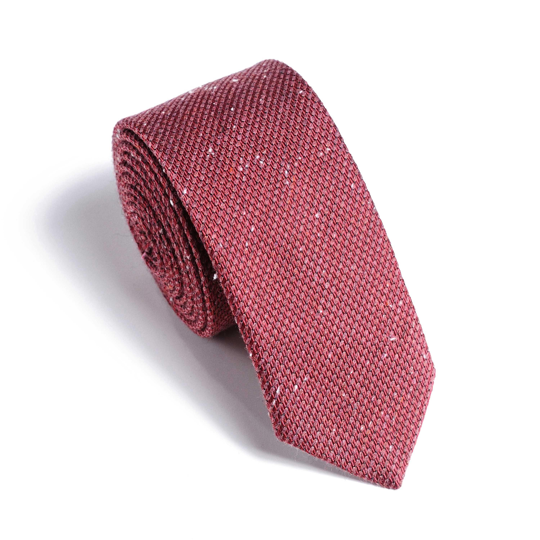 Галстук мужской красно-бордовый фактурный