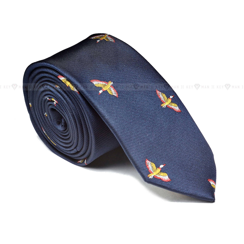 """Галстук мужской синий в узор """"утки"""", серия Country Ties"""