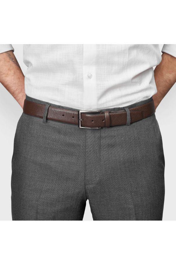 Ремень мужской коричневый с крупной фактурой