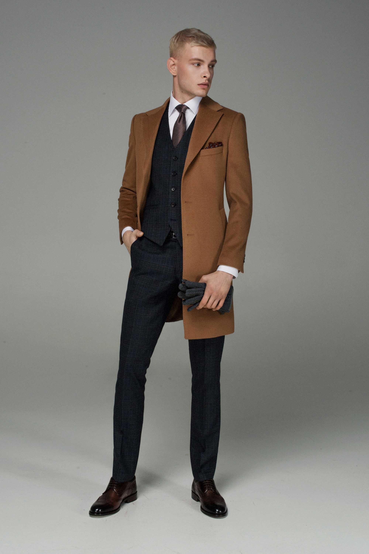 Пальто мужское демисезонное рыжее (camel)
