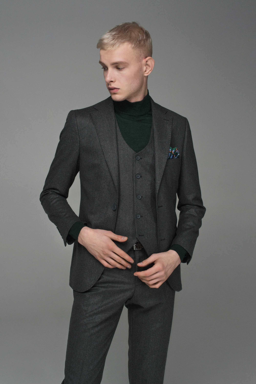 Гольф мужской темно-зеленый, итальянская шерсть