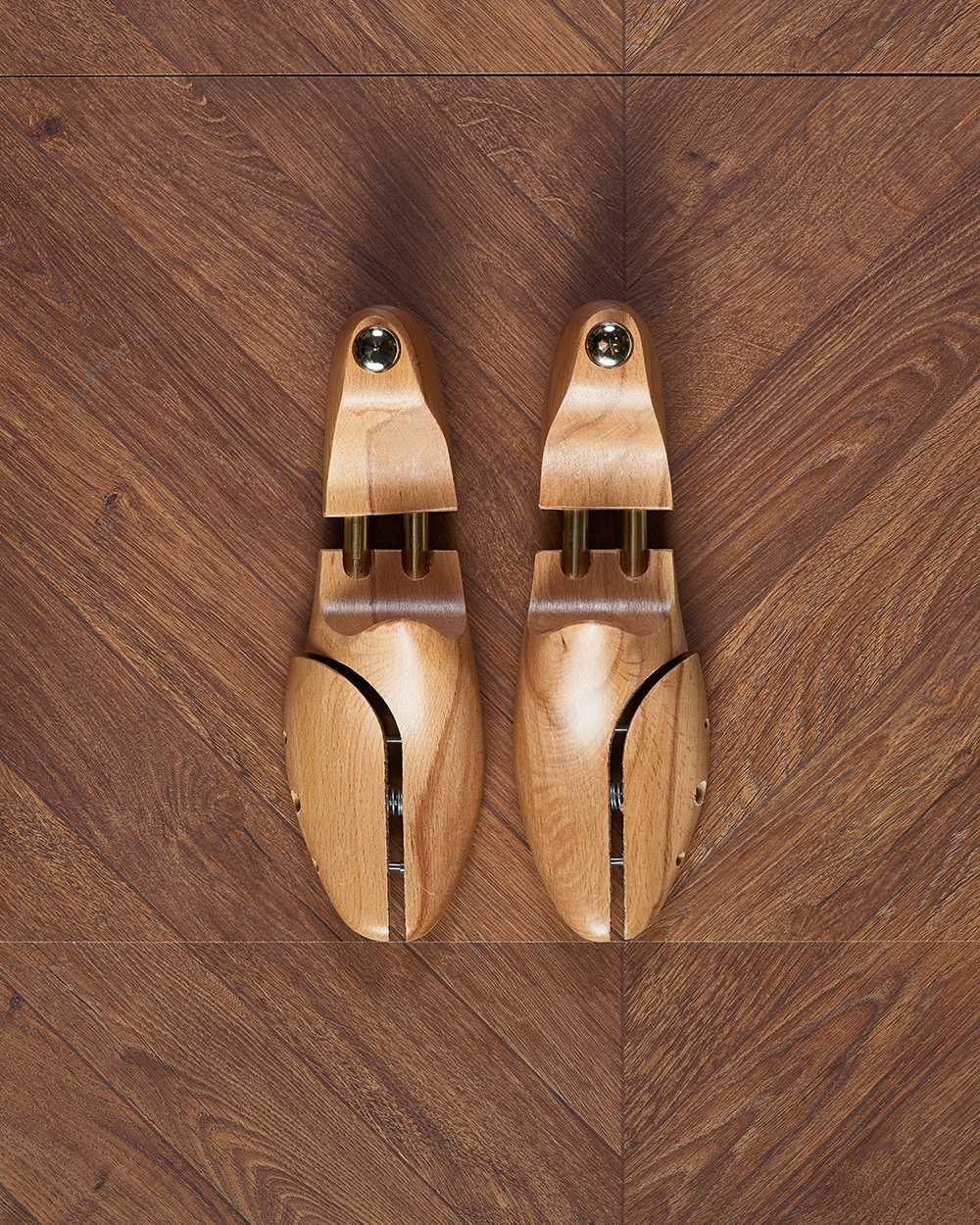 Колодки для обуви деревянные телескопические, две плоскости