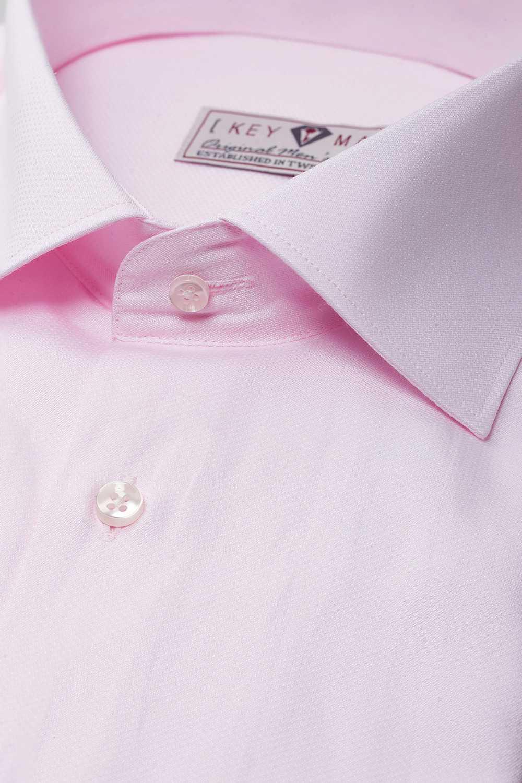 Рубашка мужская розовая, классика воротник