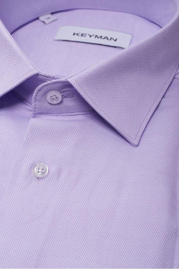 Рубашка мужская сиреневая оксфорд