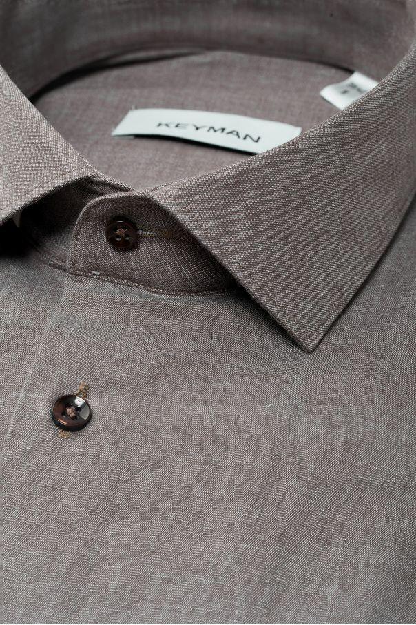"""Рубашка мужская бежевая, ткань под """"джинс"""""""