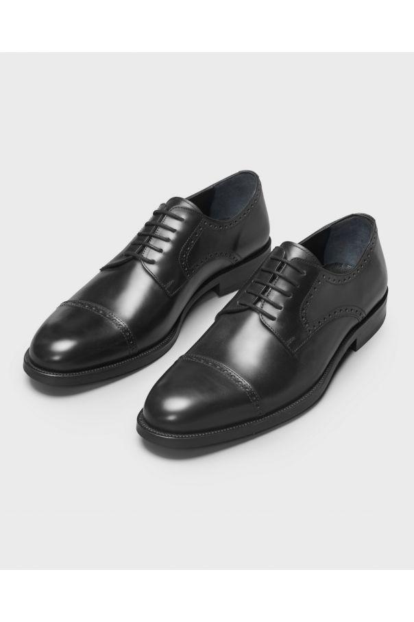 Туфли мужские дерби-броги чёрные