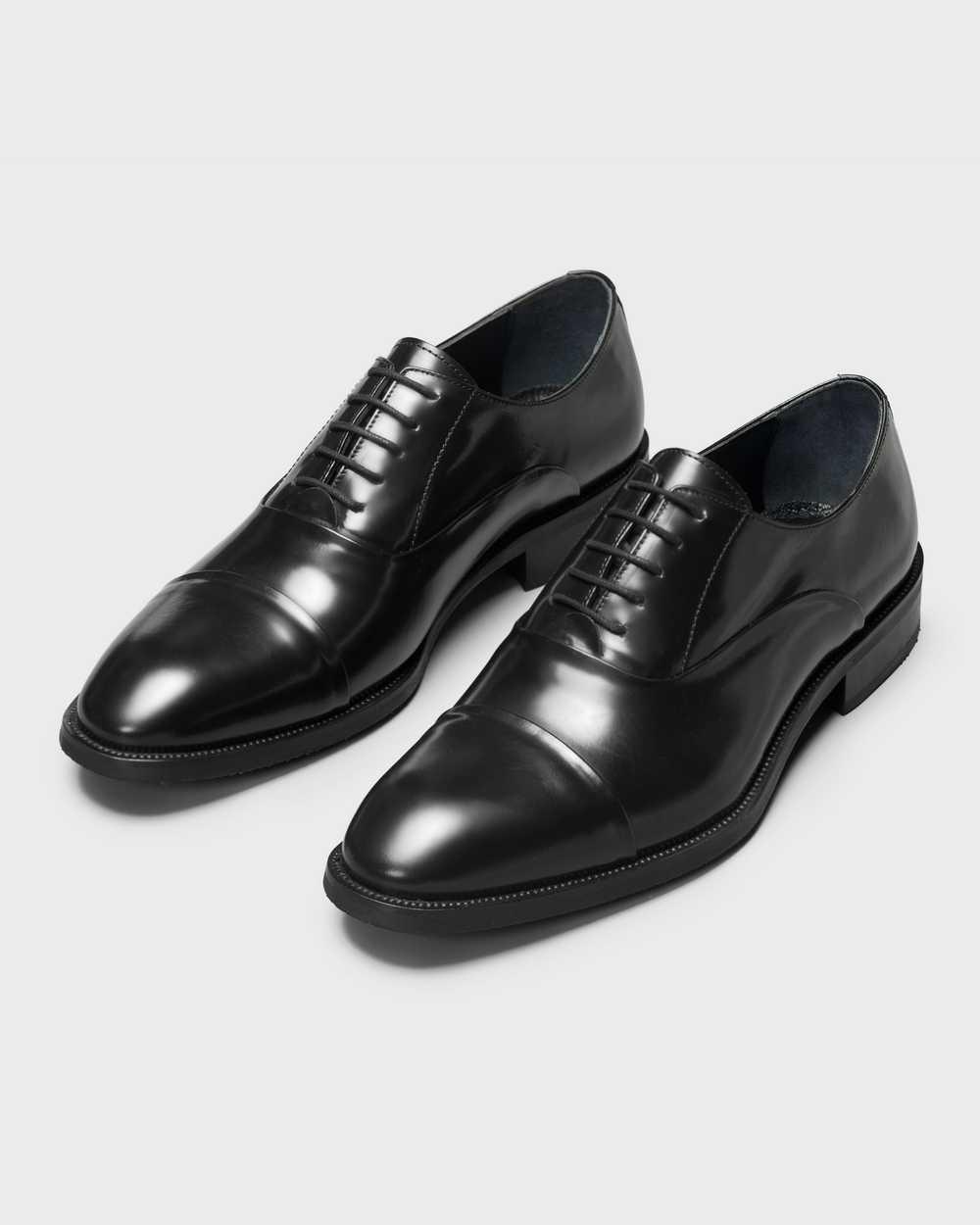 Туфли мужские оксфорды черные, глянцевая кожа, с отрезным мысом