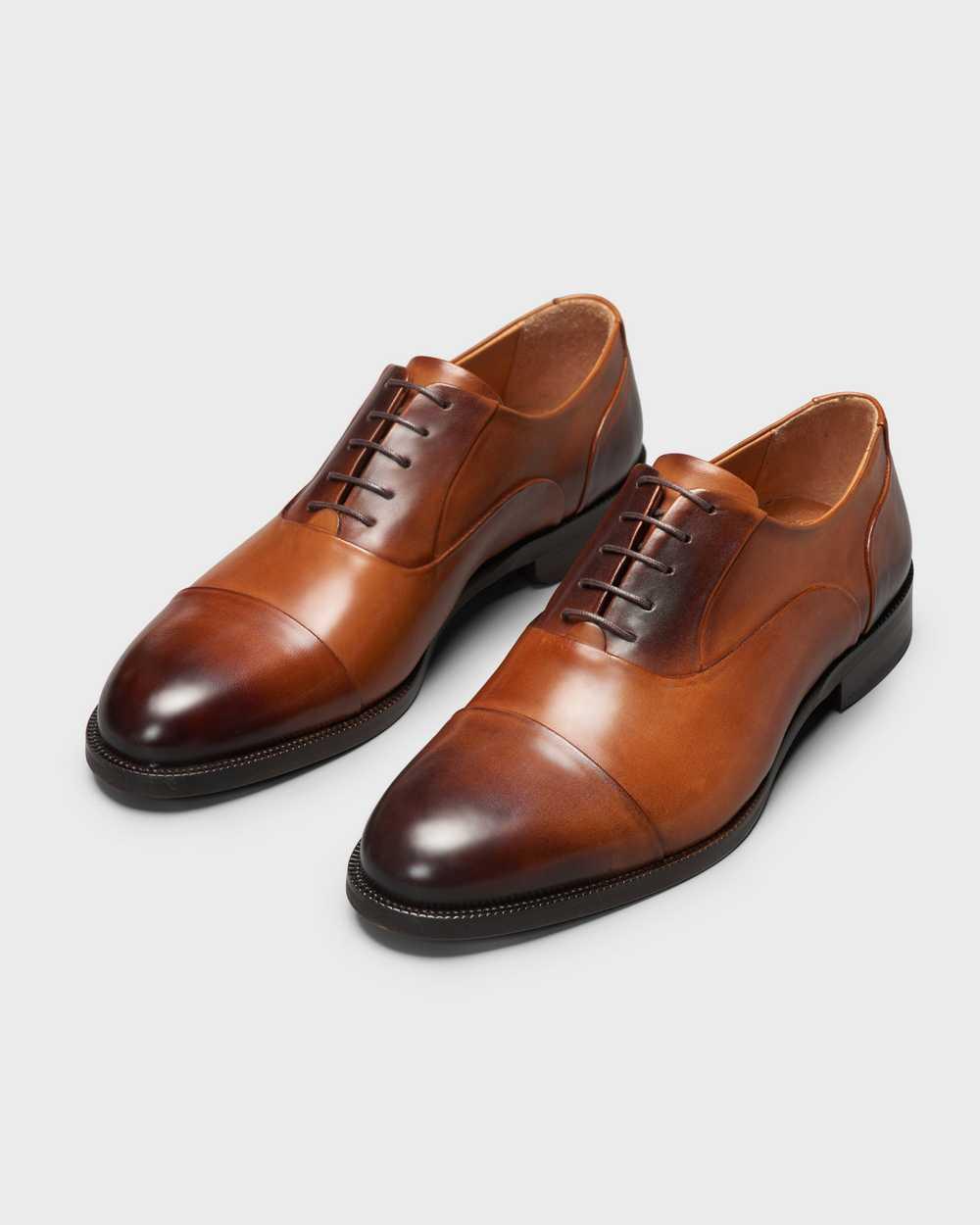 Туфли мужские оксфорды рыжие с отрезным мысом