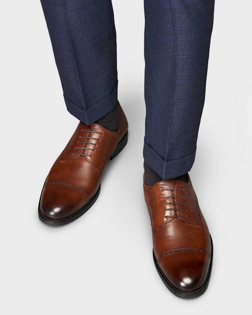 Туфли мужские дерби-броги коричневые