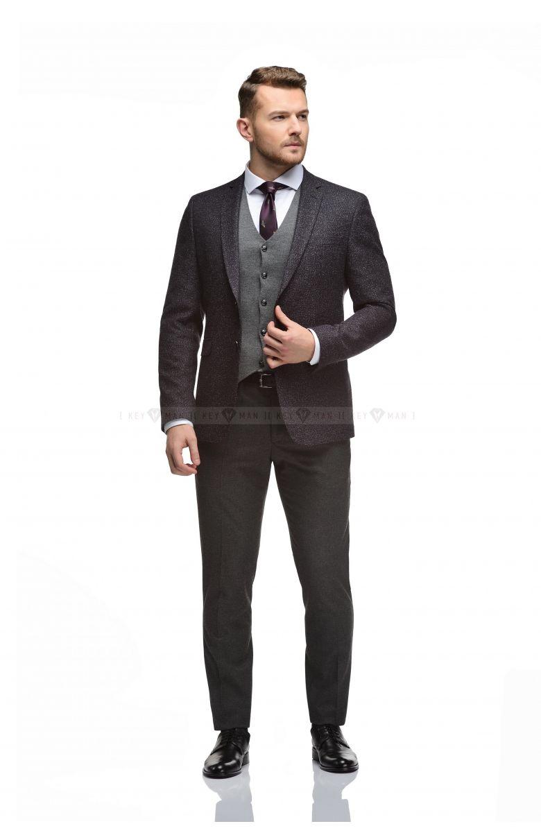 Жилет мужской трикотажный серый