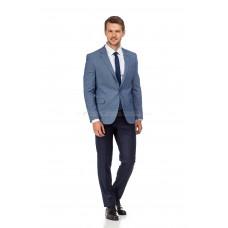 Пиджак мужской сине-белый фактурный (трикотажный)