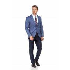Пиджак мужской светло-синий фактурный