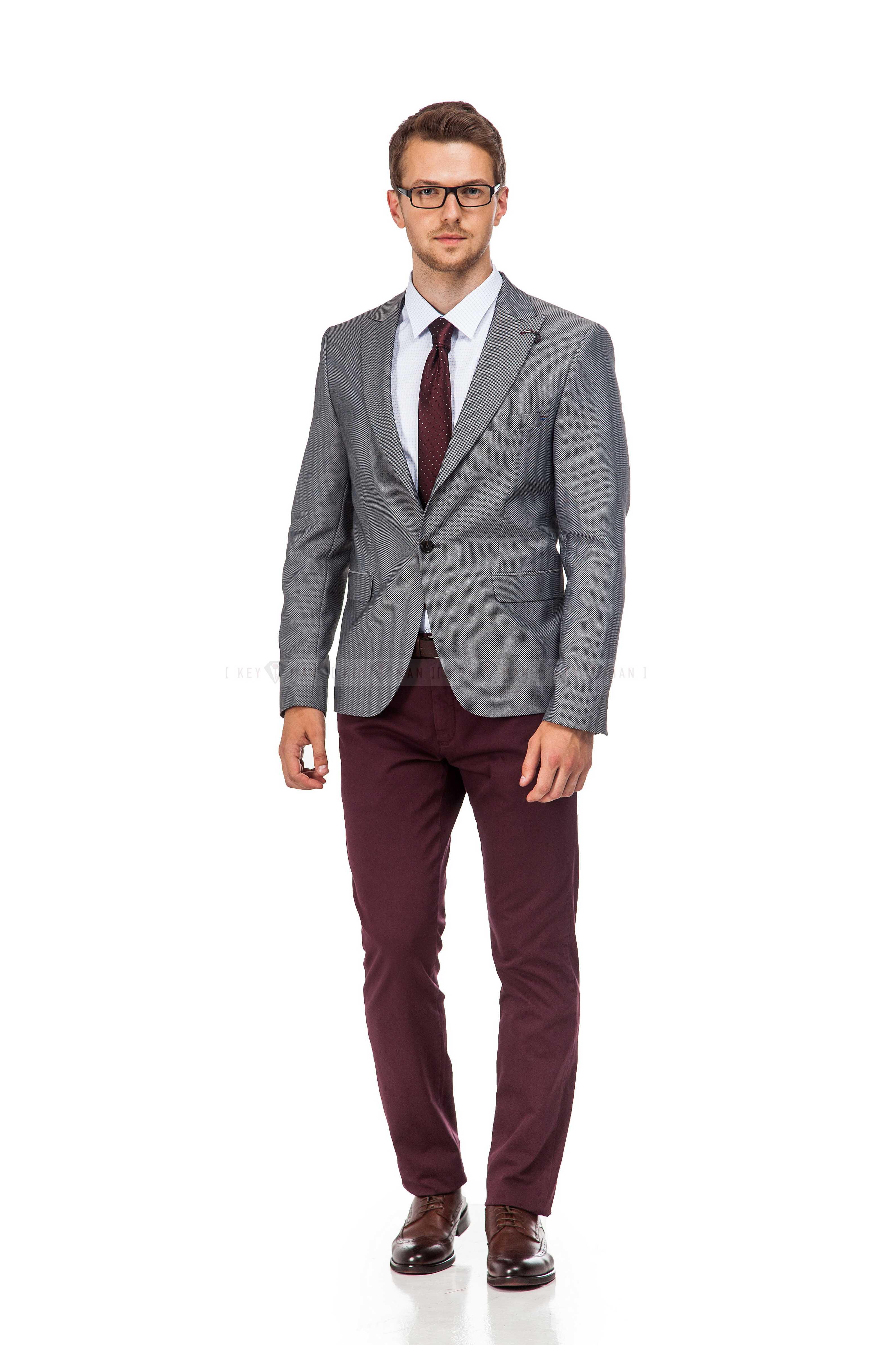 Пиджак мужской серый с мелкой фактурой