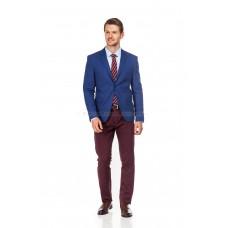 Пиджак мужской синий фактурный