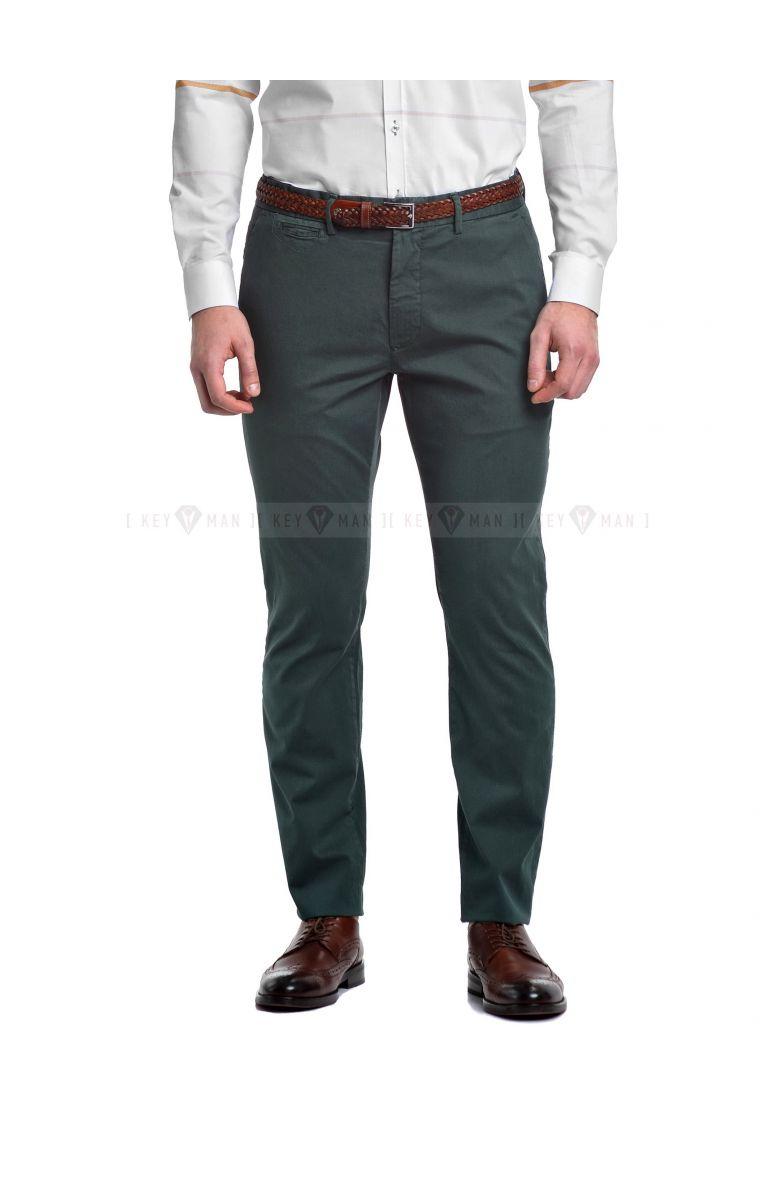 Брюки мужские чинос зеленые