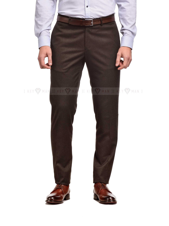 Брюки мужские темно-коричневые, плотная шерсть