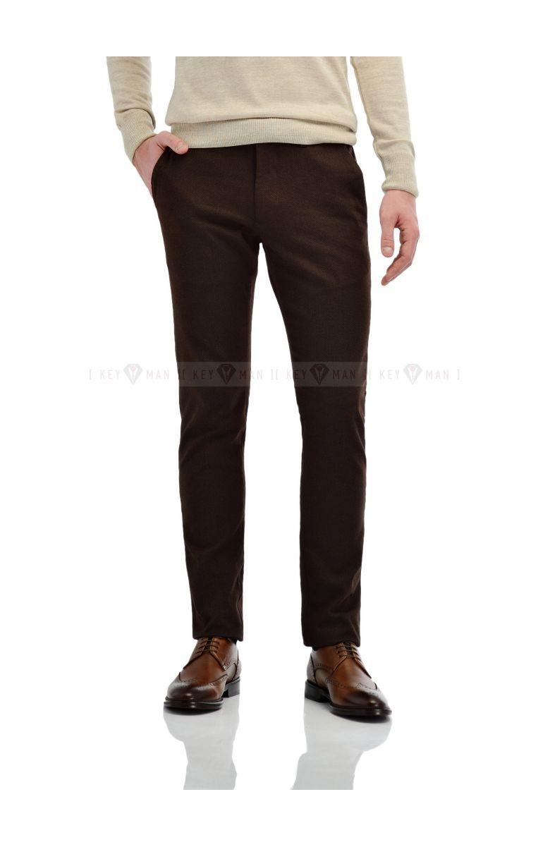 Брюки мужские чинос коричневые
