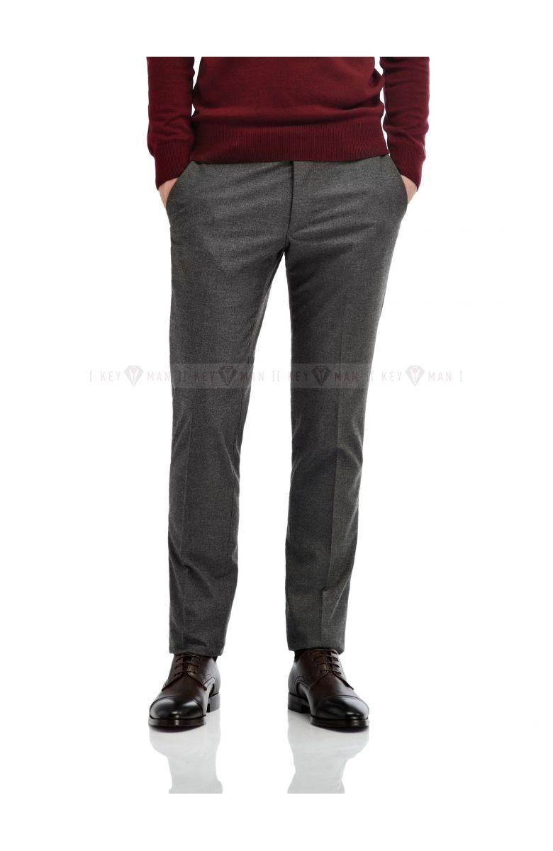 Брюки мужские светло-серые плотная шерсть
