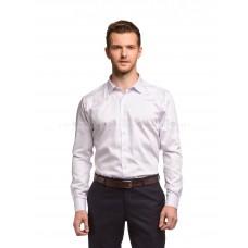 Рубашка мужская белая в сиреневую точку (сатин)