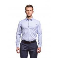 Рубашка мужская голубая в мелкий рисунок