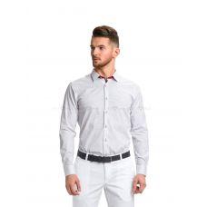 Рубашка мужская белая в мелкий цветочек