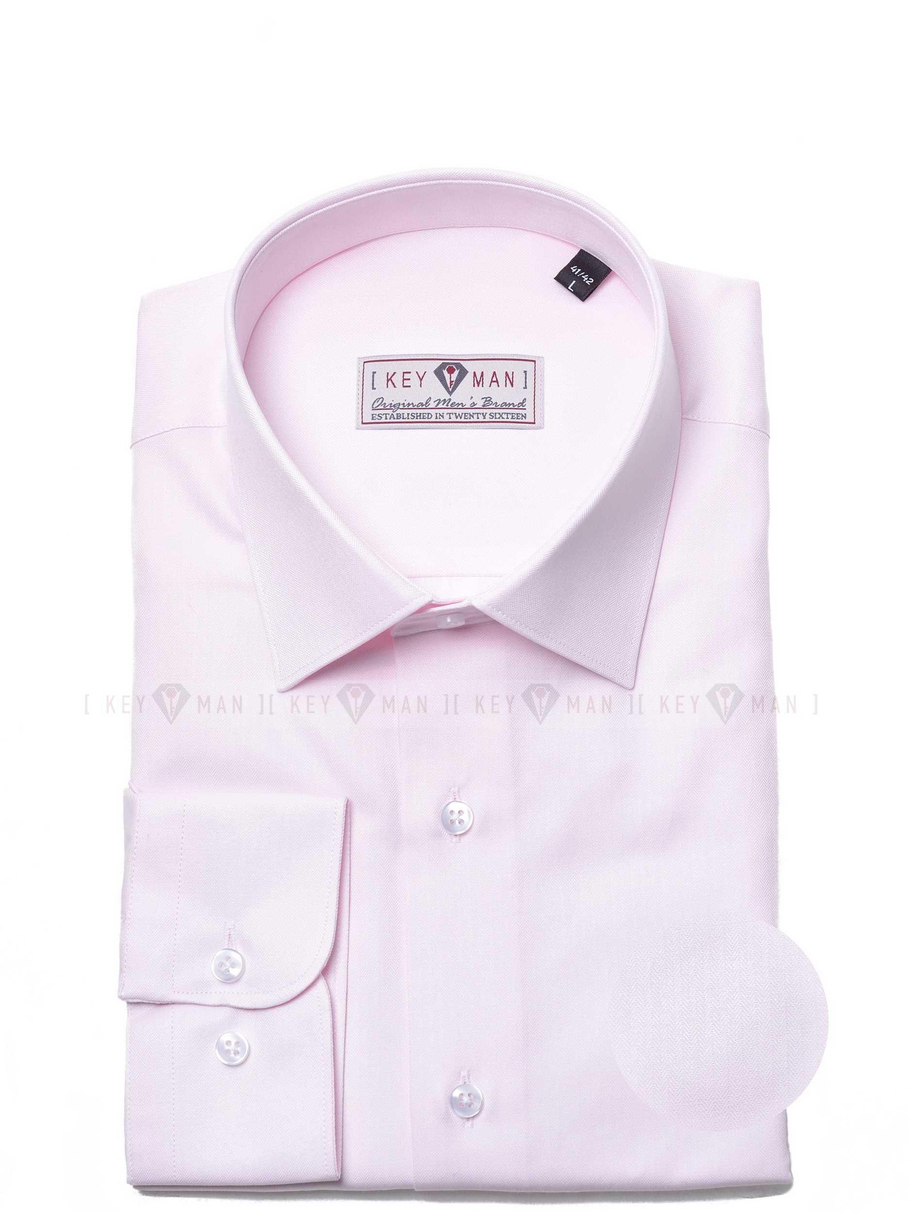 Рубашка мужская розовая елочка