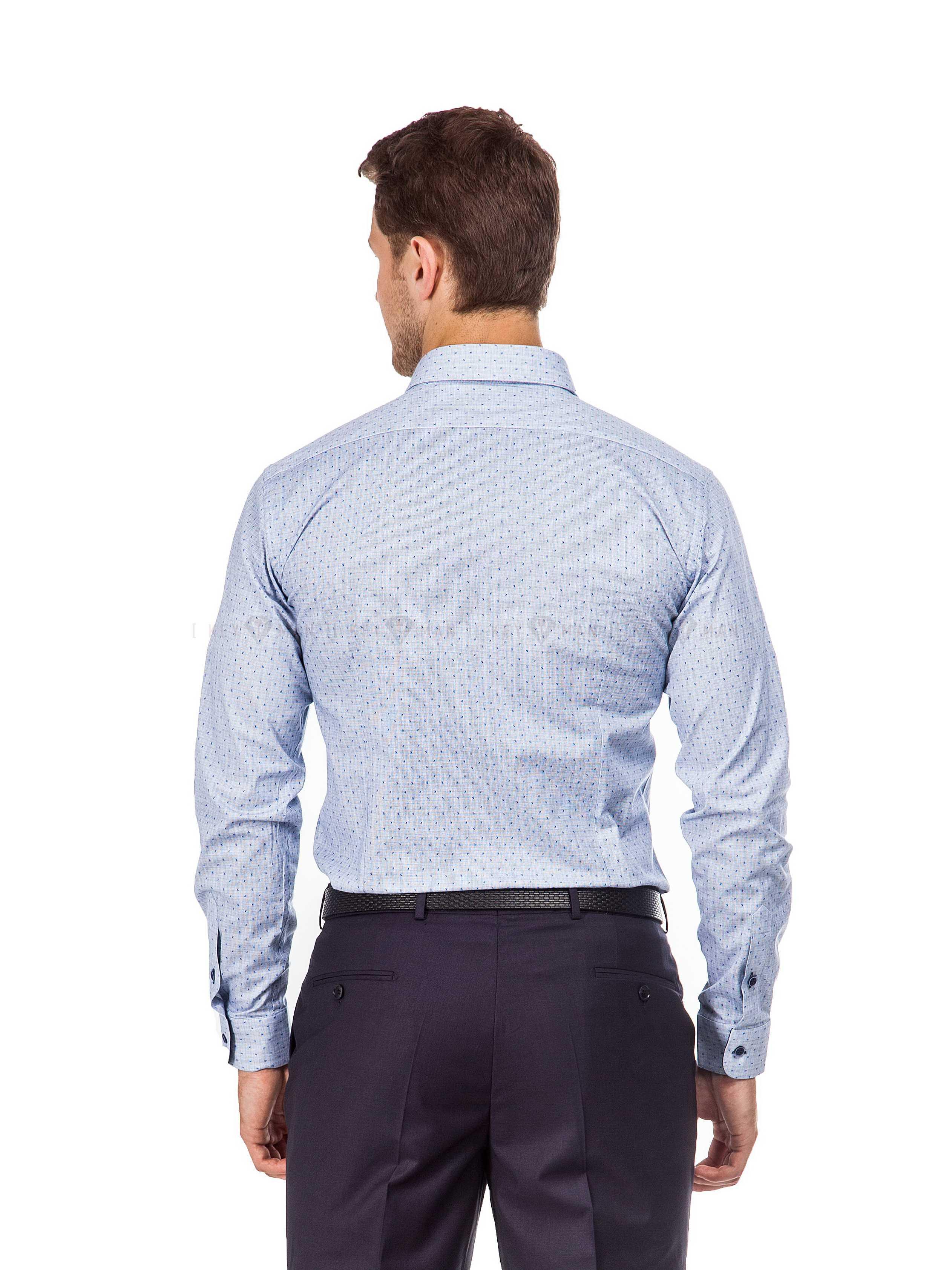 Рубашка мужская серая в мелкий узор