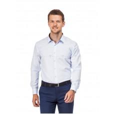 Рубашка мужская белая в крупную голубую клетку