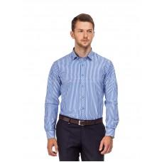 Рубашка мужская в крупную темно-синюю полоску
