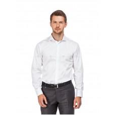 Рубашка мужская белая сатин с акульим воротником (Cutaway Collar)