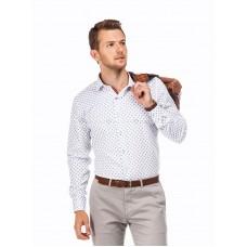 Рубашка мужская белая в цветы
