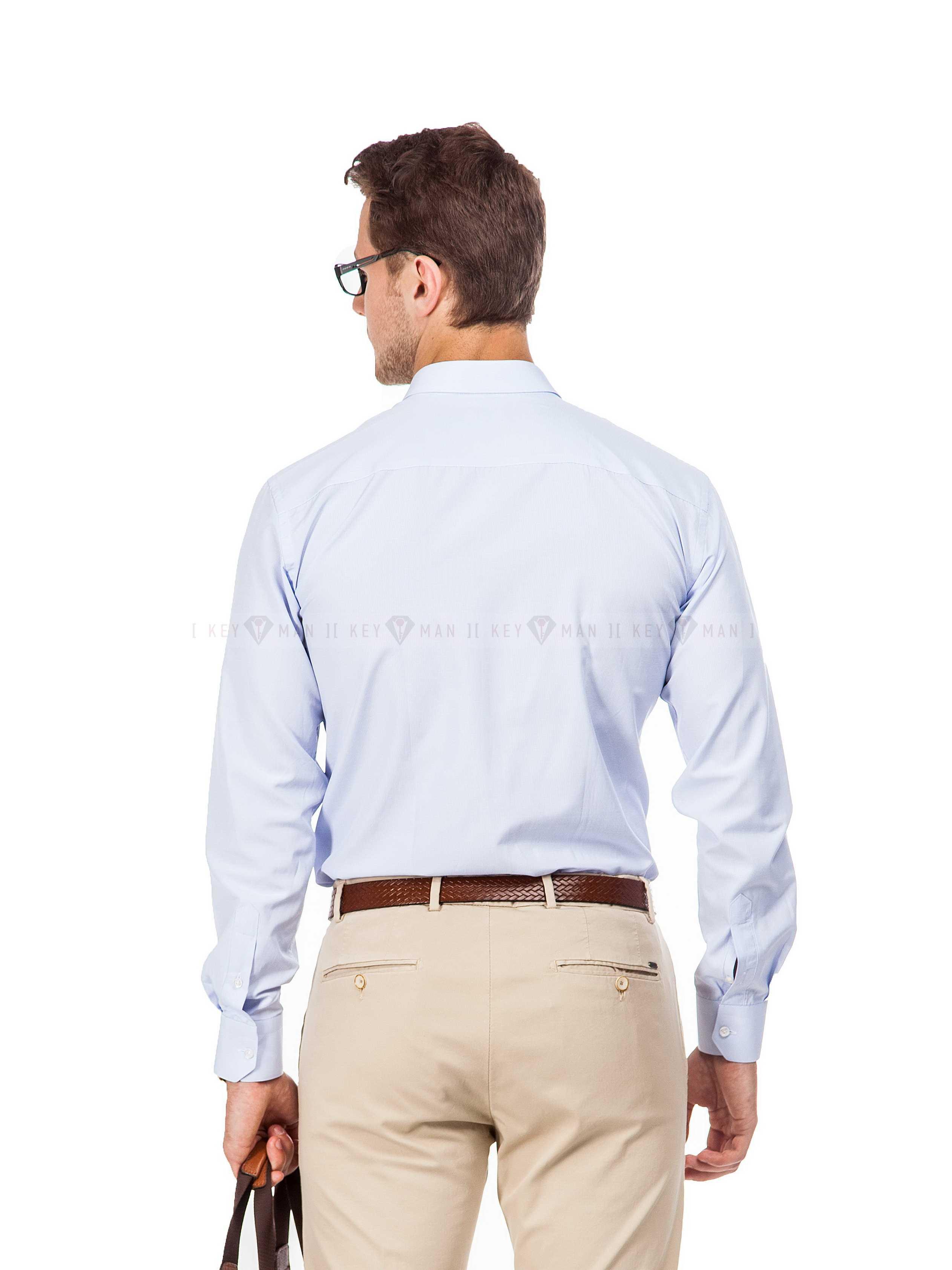 Рубашка мужская небесно-голубая оксфорд