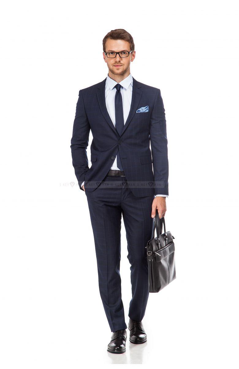 Офисный Look (костюм, рубашка, туфли, ремень, аксессуары)