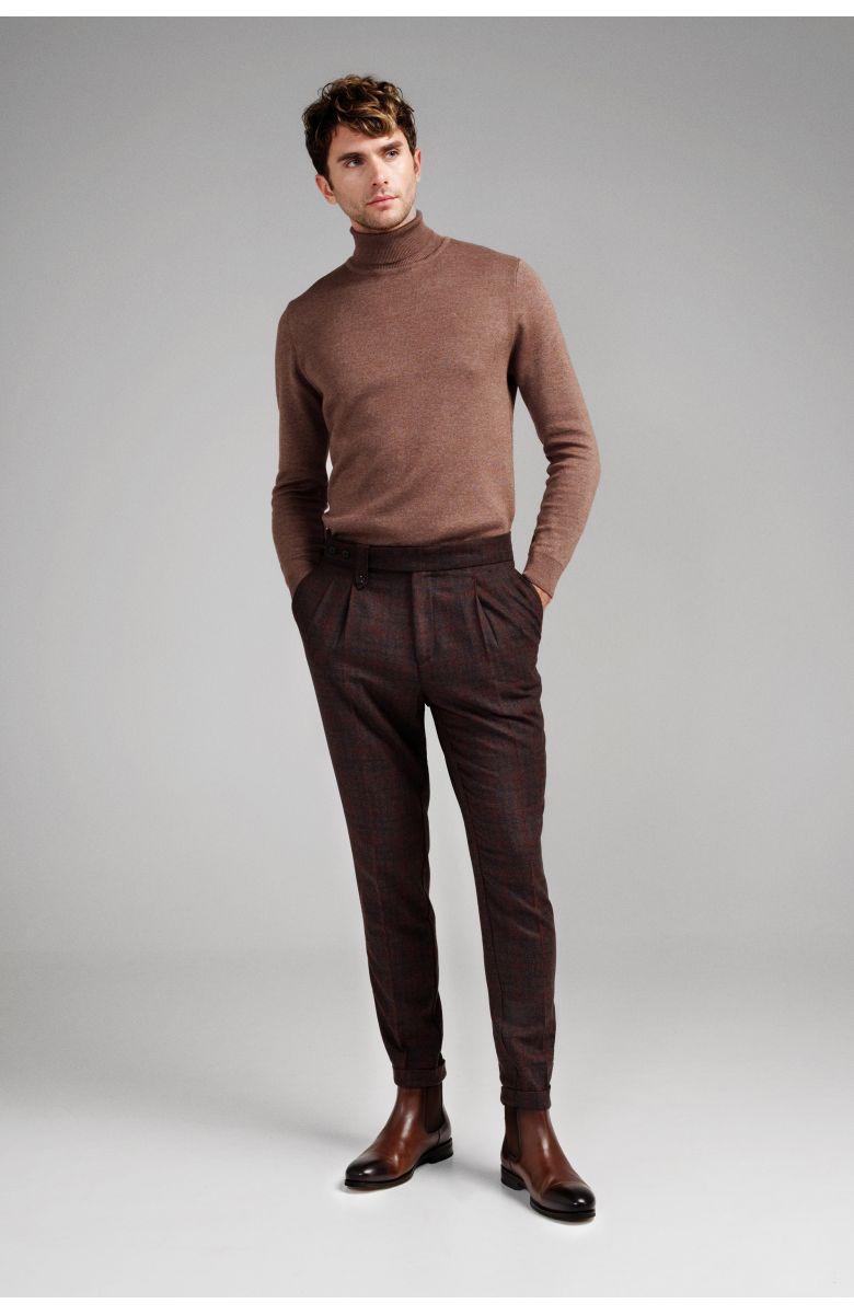 Гольф мужской (водолазка) коричневый