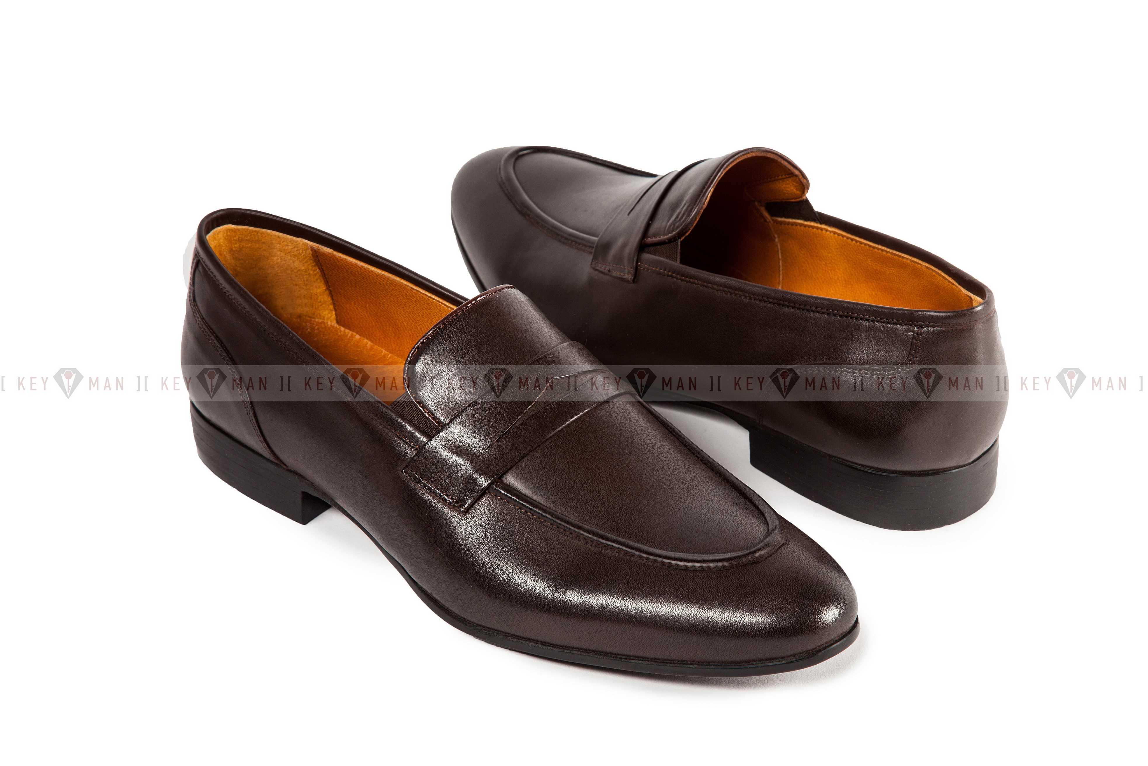 Туфли мужские лоферы коричневые классические