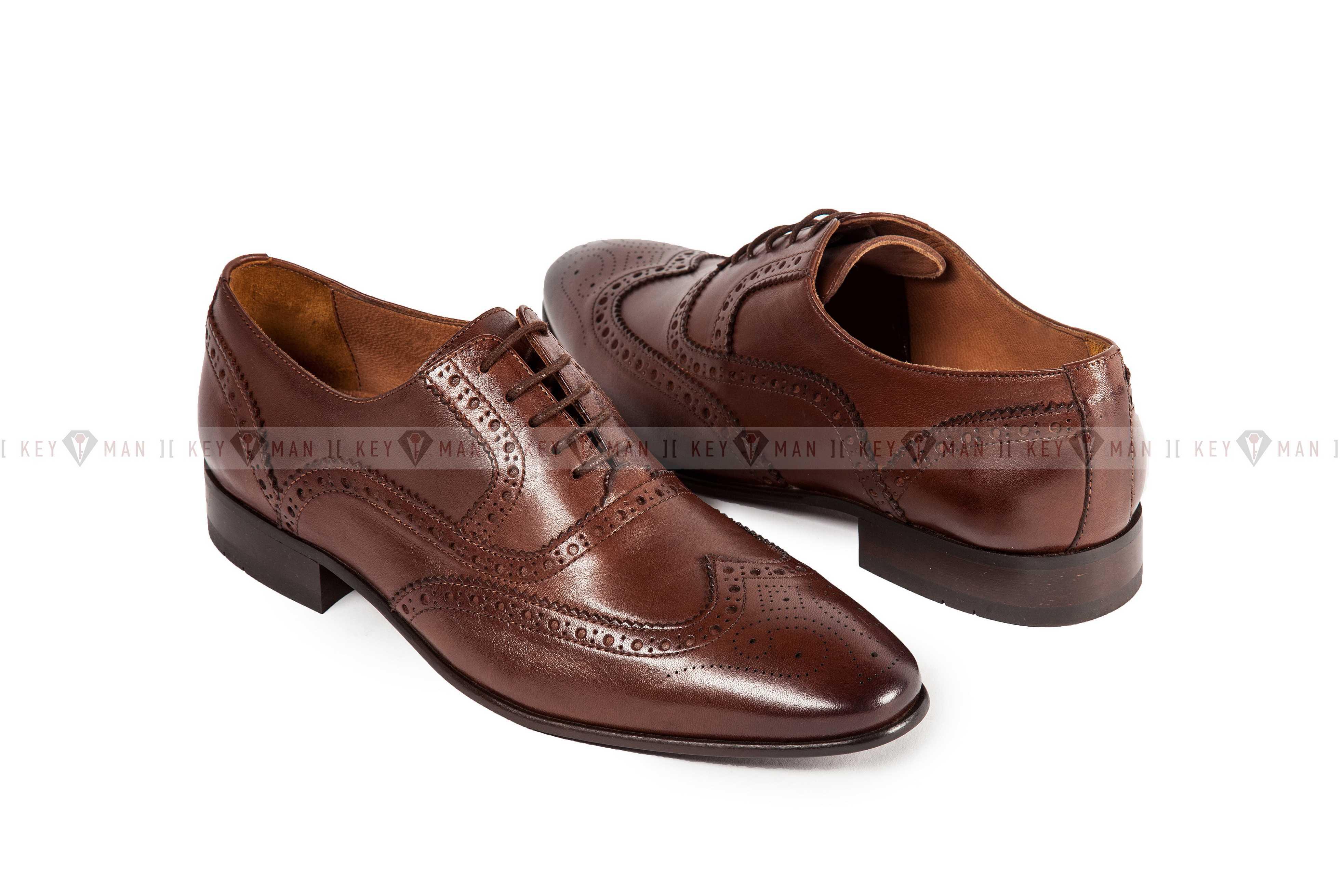 Туфли мужские оксфорд броги коричневые