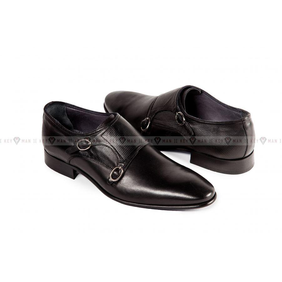 Туфли мужские дабл монки черные