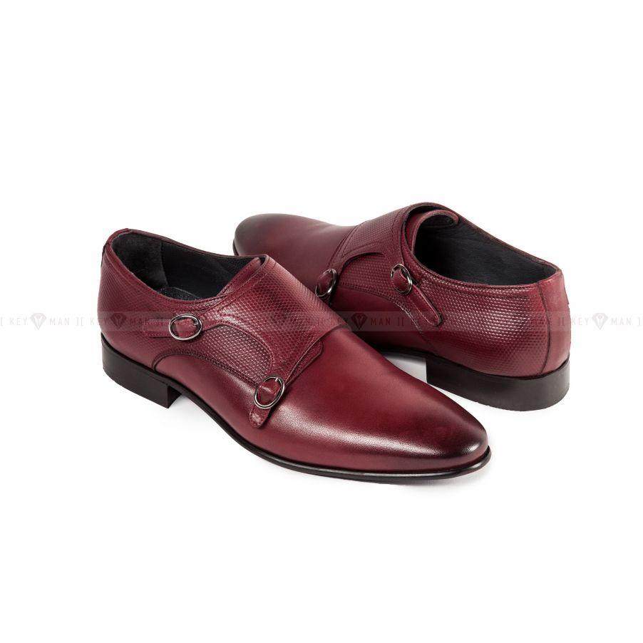 Туфли мужские дабл монки бордо