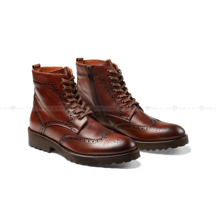 Ботинки мужские броги коричневые