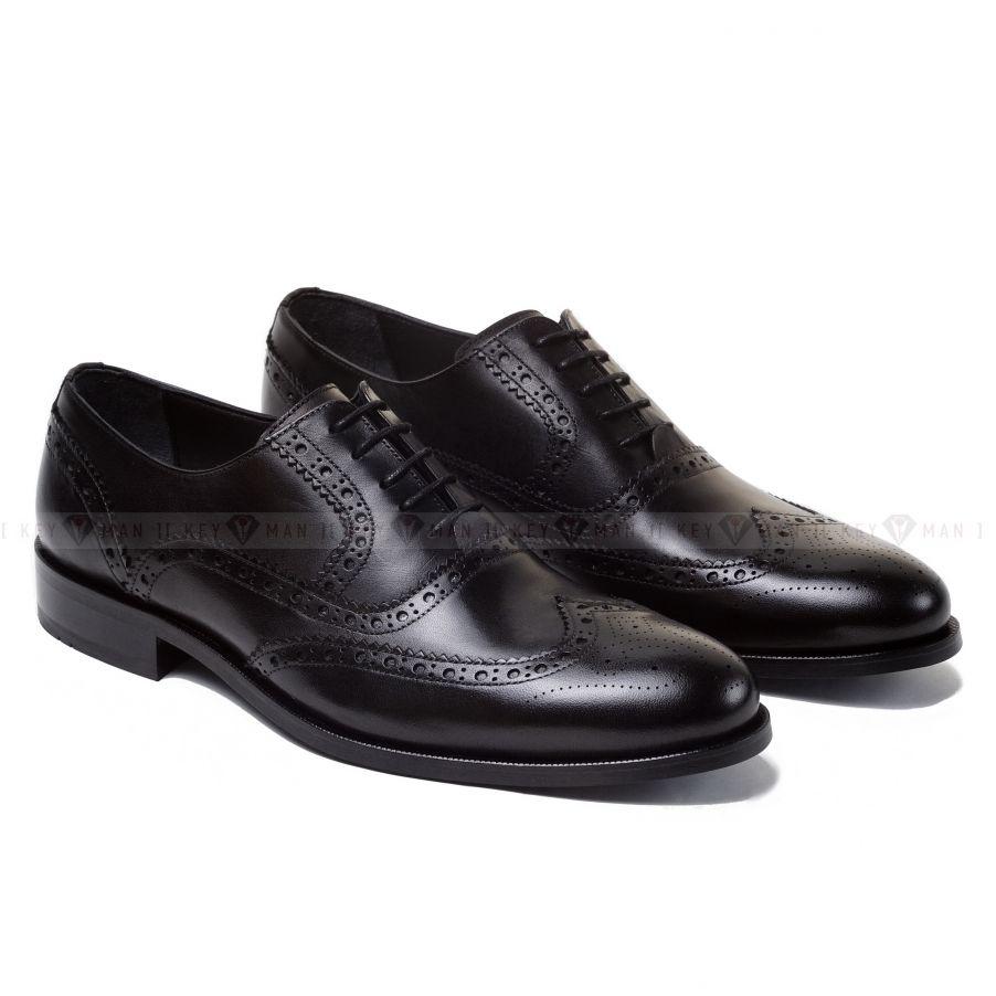 Туфли мужские оксфорды броги черные (резные края)