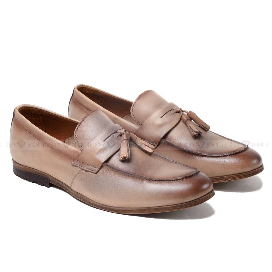 Туфли мужские лоферы кремовые