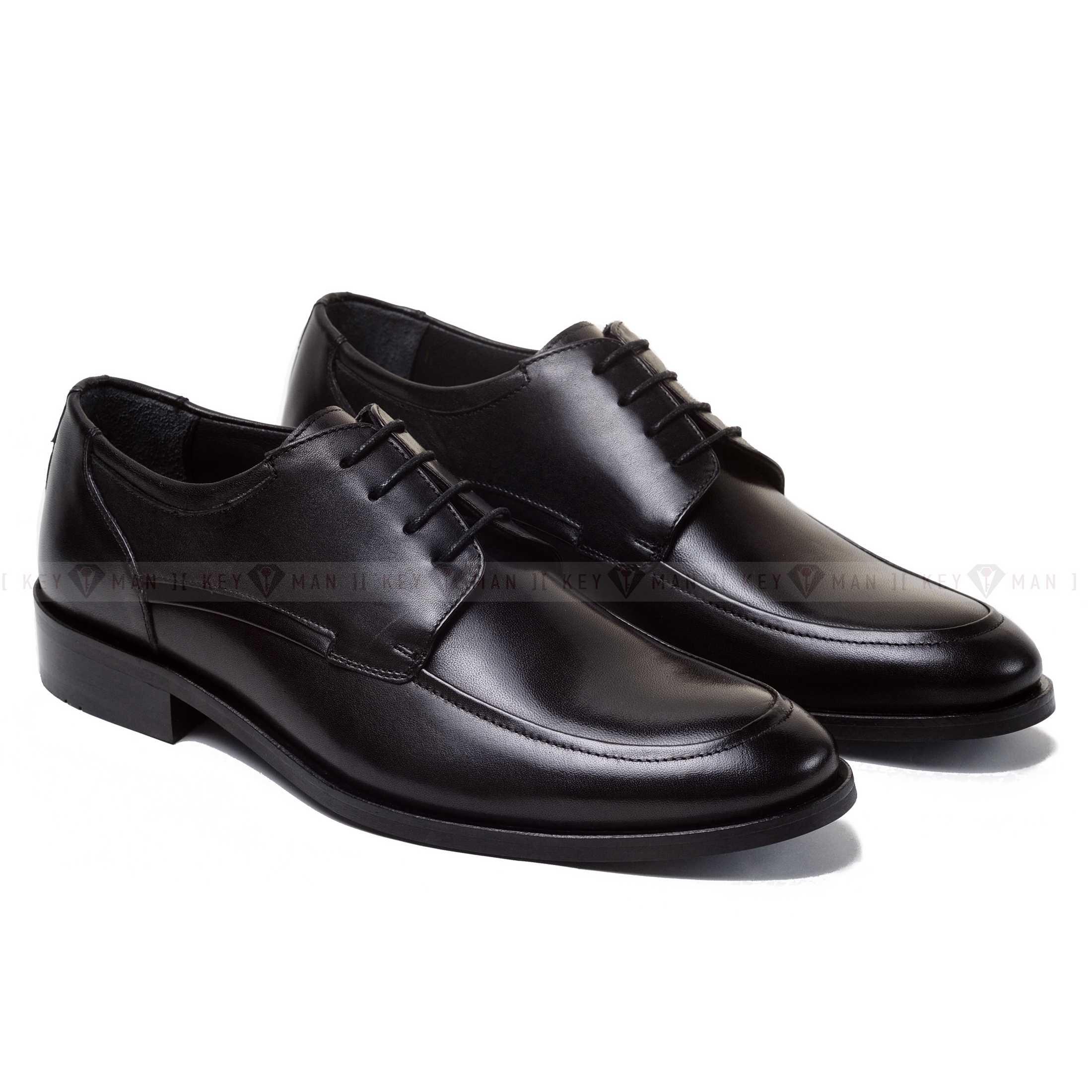 Туфли мужские дерби черные (Derby Moc Toe)